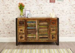 Industrial Reclaimed 6 Drawer Sideboard