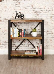 Industrial Reclaimed Low Bookcase