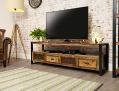 Industrial Reclaimed Wide TV Cabinet