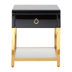 Kent Black and Gold Side Table