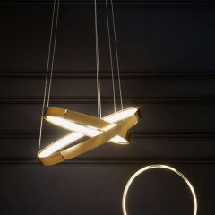 Langston Retro Gold LED Pendant