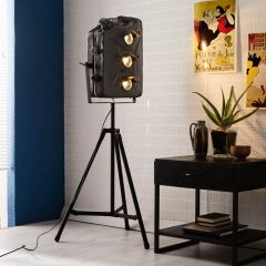 Large Petrol Can Design Tripod Floor Lamp