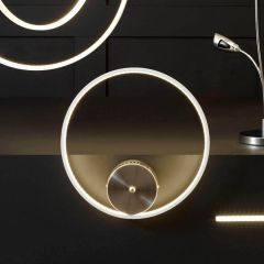 Langston White LED Circle Wall Light