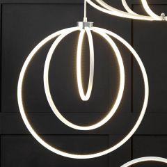 Langston White LED Circles Pendant