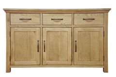 Light Oak Finish 3 Door Sideboard