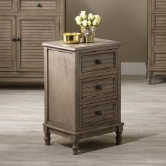 Matilda Taupe Pine 3 Drawer Unit