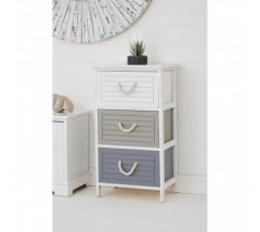 Maine Multi Colour 3 Drawer Chest