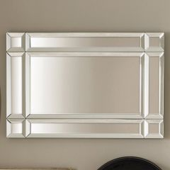 Mirrored Glass Art Deco Wall Mirror