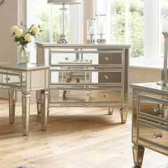Venetian Style Mirrored 3 Drawer Chest of Drawers