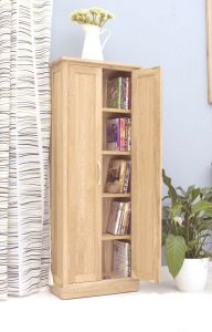 Modern Light Oak DVD Storage Cupboard