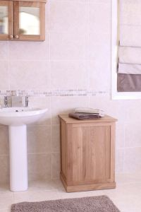 Modern Light Oak Laundry Bin