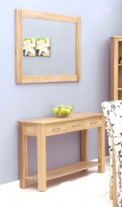 Modern Light Oak Wall Mirror Medium