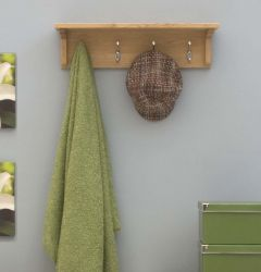 Modern Light Oak Wall Mounted Coat Rack