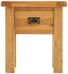 Oakhouse Oak Lamp Table with Drawer