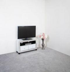 Olivia Mirror Glass White 2 Drawer TV Unit