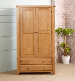 Oxfordshire Oak Double Wardrobe