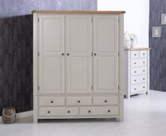Oxfordshire Oak Triple Wardrobe