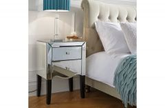 Palma Mirrored 2 Drawer Bedside Cabinet