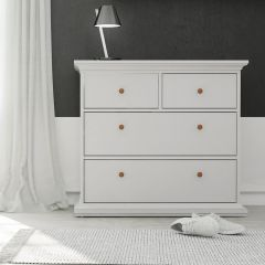 Paris 4 Drawer Chest in White, Grey or Walnut