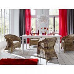 Provence White Mahogany Dining Tables