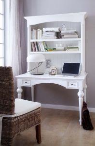 Provence White Mahogany Secretary Desk