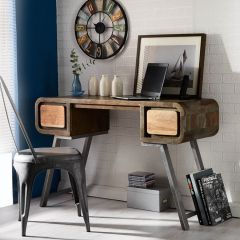 Reclaimed Iron and Wood Console Table/Desk