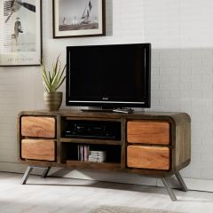 Reclaimed Iron and Wood TV Unit