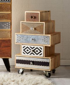 Retro Patch Small Retro Chest of Drawers