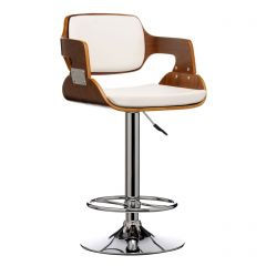 Retro Style Walnut Bar Stool
