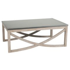 Rustic Rock & Mango Wood Coffee Table