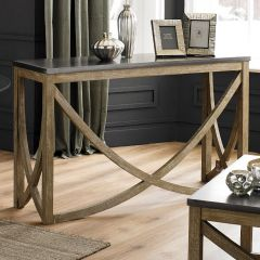 Rustic Rock & Mango Wood Console