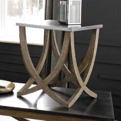 Rustic Rock & Mango Wood Side Table