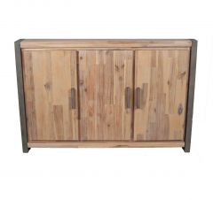 Salvatore Acacia Wood 3 Door Sideboard