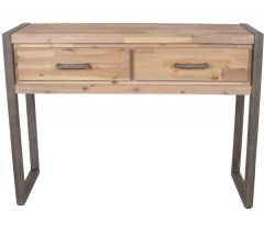 Salvatore Acacia Wood Console Table