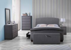 Sants Grey Fabric Bed Frames