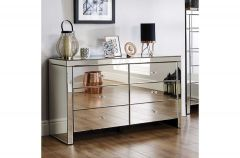 Savannah Mirrored 6 Drawer Sideboard Chest of Drawers