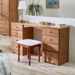 Scandinavian Pine Dressing Table Set