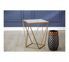 Shazaar Copper Square Side Table