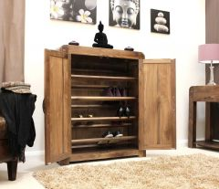 Solid Walnut Shoe Cupboard