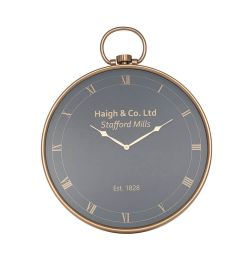 Stafford Mill Brass Wall Clock