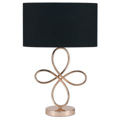 Swirls Rose Gold Finished Table Lamp