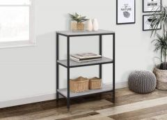 Townville Concrete Effect 3 Tier Bookcase