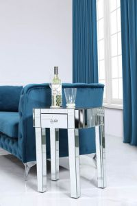 Traditional Mirrored Small Lamp Table