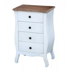 Transylvania White 4 Drawer Mini Tallboy