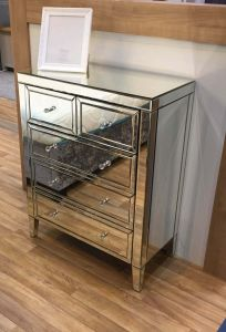 Turia Mirrored 3+2 Chest of Drawers