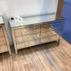 Turia Mirrored 6 Drawer Sideboard