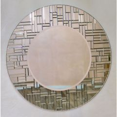 Venetian Segmented Round Decorative Wall Mirror