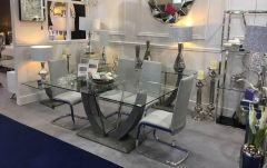 Viva Grey Dining Table Set