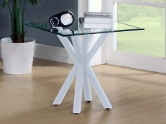 Fiesta White Gloss Lamp Table