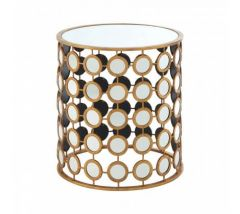 Zara Gold Finish Side Table